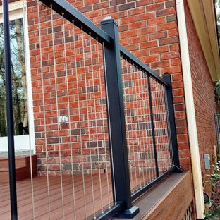 Decks with Trex Transcends and Fortress Cable Railing