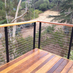 DIY Cable Railing - Using 2 posts for a continuous cable run; manufactured by www.sandiegocablerailings.com