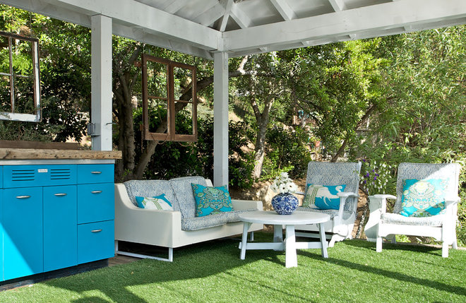 rustic deck by Shannon Ggem ASID- Ggem Design Co LLC