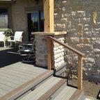 Cedar Pergola Covered Cedar Deck With Polycarbonate Roof