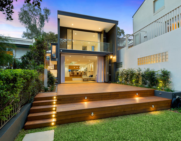 Contemporary Deck by Bell Landscapes