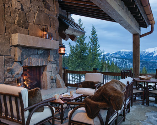 Electric Outdoor Fireplace Houzz - Electric outdoor fireplace