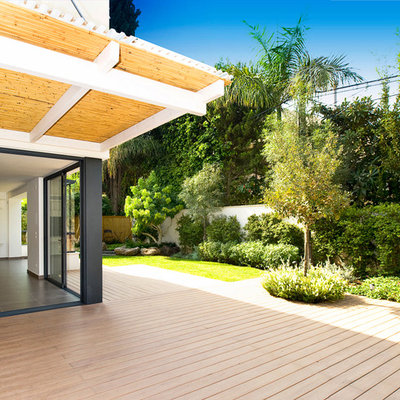 Deck - contemporary deck idea in Other with an awning
