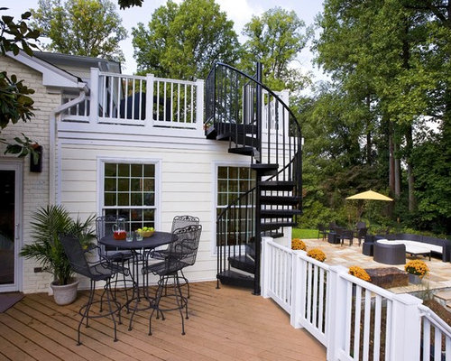 roof deck spiral stair photos - Deck Stairs Design Ideas