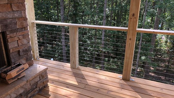 Exterior cable rail