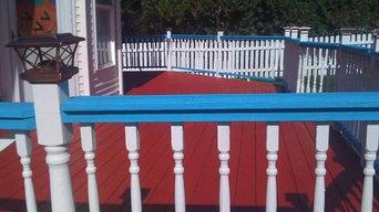 Exterior Painting: Deck Railing