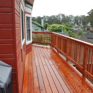 Foto di terrazze e balconi stile rurale di medie dimensioni e nel cortile laterale con nessuna copertura