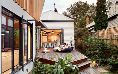 A Modest Cottage on a Narrow Site Gets an Ingenious Addition