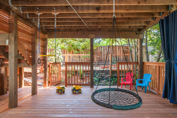 American Traditional Terrace by Rock Paper Scissors Landscape Design Build
