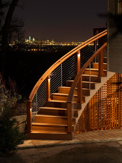Curved Deck Stairs Home Design Ideas Pictures Remodel