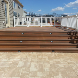 Mid-sized elegant backyard deck photo in Baltimore with no cover
