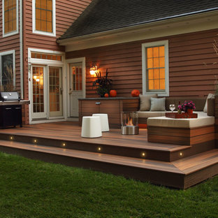 Inspiration for a contemporary deck in Charlotte.