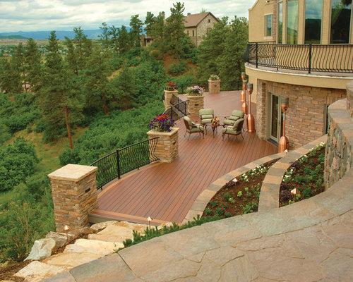 Große Rustikale Terrasse: Ideen für die Terrassengestaltung