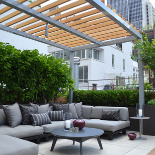 Inspiration for a modern deck remodel in New York