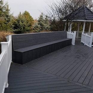 Ispirazione per grandi terrazze e balconi american style dietro casa con nessuna copertura