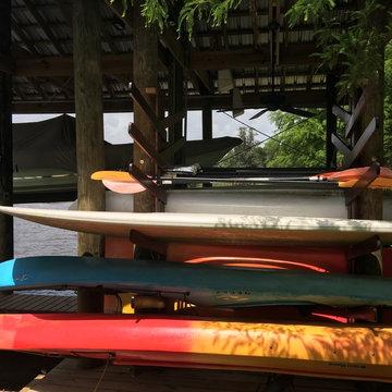 Fish River custom kayak rack
