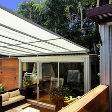 Contemporary Deck by SUPERIOR AWNING INC