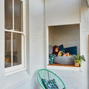Idee per terrazze e balconi design con un tetto a sbalzo
