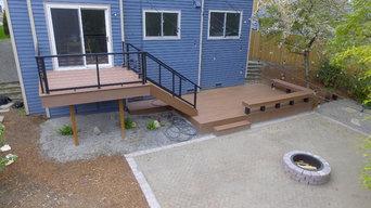 Forbes Creek Modern Deck Installation