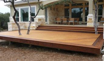 Garapa Deck with Tree