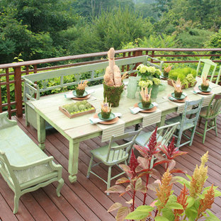 Deck - rustic deck idea in New York with no cover