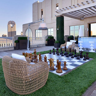 Example of a trendy rooftop deck design in Dallas with no cover
