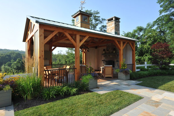 Traditional Deck by Edward Clark Landscape Architect, LLC