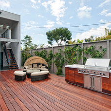 Contemporary Deck by American Coastal Properties