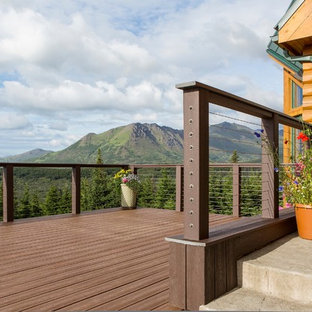 This is an example of a medium sized rustic back terrace and balcony in Other with no cover.