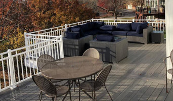 Gray & White Composite Deck