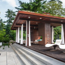 Contemporary Deck by Sequined Asphault Studio Photography