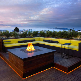 Deck lighting houzz trendy rooftop deck photo in san francisco aloadofball Choice Image