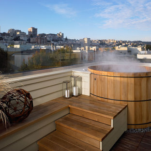 This is an example of a contemporary rooftop deck in San Francisco.