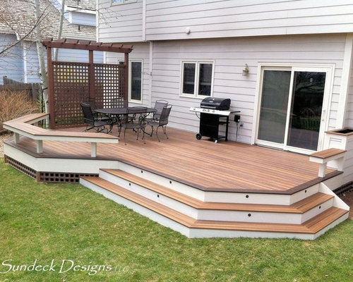 Ground Level Deck Home Design Ideas, Pictures, Remodel and ... on Ground Level Patio Ideas id=15433
