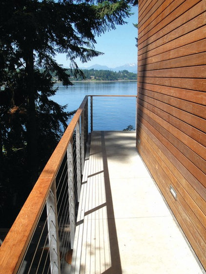 Contemporary Deck by Coates Design Architects Seattle