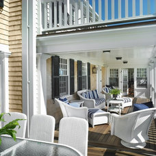 Beach Style Deck by Patrick Ahearn Architect