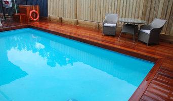 Hardwood Pool Deck