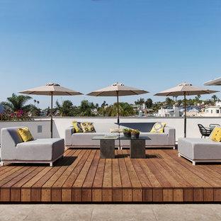 Ispirazione per grandi terrazze e balconi contemporanei sul tetto