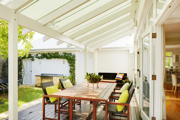 Traditional Deck by Suzanne Hunt Architect