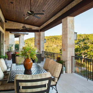 Deck - rustic deck idea in Austin