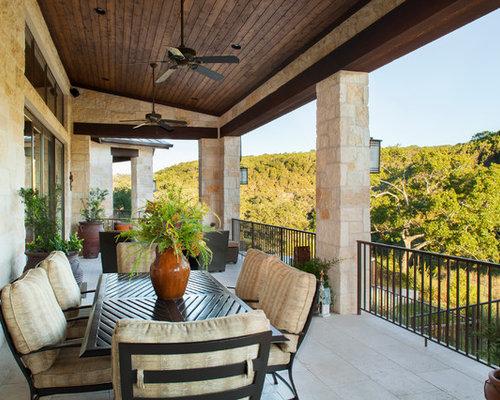 Rustikale Terrasse Austin - Ideen Für Die Terrassengestaltung | Houzz Rustikale Terrassengestaltung