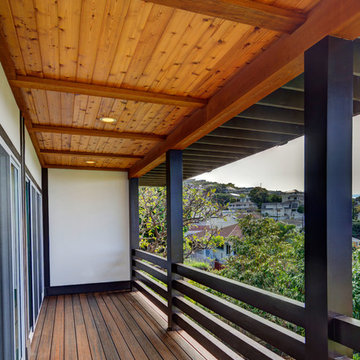Hillside House with Japanese Influences