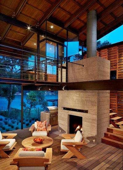 Contemporary Trädäck by Lake Flato Architects