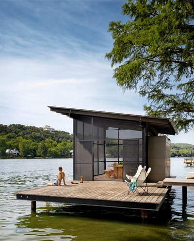 Contemporary Deck by Lake Flato Architects