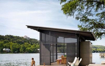 Le Case di Houzz: Gioco tra Vetro e Legno con Vista Mozzafiato sul Lago