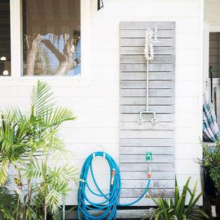 Design ideas for a small beach style deck in Sydney.