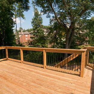 Deck - large traditional backyard deck idea in Atlanta with no cover