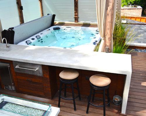 kleine terrasse mit outdoor k che ideen f r die terrassengestaltung. Black Bedroom Furniture Sets. Home Design Ideas