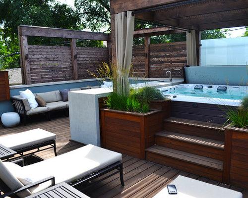 dachterrasse mit outdoor k che ideen f r die terrassengestaltung houzz. Black Bedroom Furniture Sets. Home Design Ideas