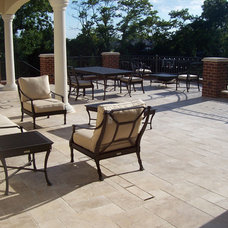 Traditional Deck by Travertine Group Imports